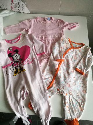 lote pijamas niña 3-6 meses