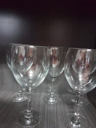 6 copas vino