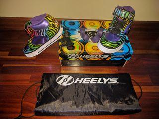Zapatillas con ruedas Heelys.n°32. Una puesta.