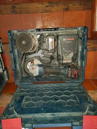 conjunto radial ,percutor y taladro bateria