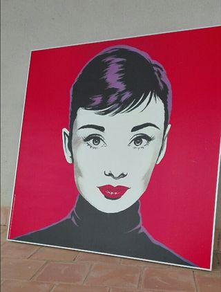 cuadro pop art Audry Herburn