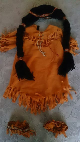 Disfraz india talla 2 años