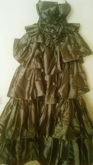 vestido de boda gris