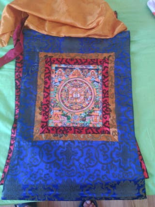 ,Thangka pintado a mano. Natural
