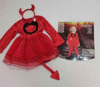 Disfraz Haloween niña Bruja y Demonia
