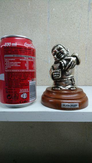 Figura Fraile Cervecero con baño en plata