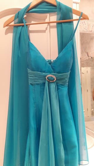 Vestido Evento Azul Pronovias