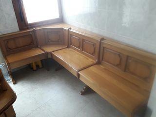 banco escaño madera maciza