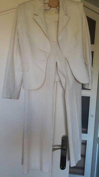 Traje chaqueta blanco Fórmula Joven