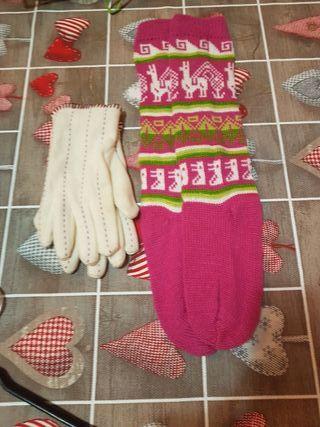 calentadores y guantes