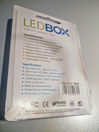 Linterna LED aluminio Nueva