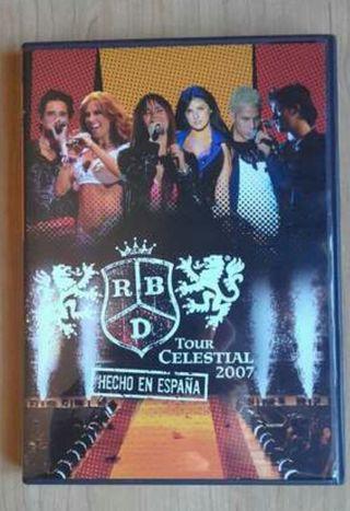 dvd rbd tour celestial 2007 hecho espaa