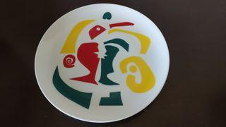 Plato antiguo cerámica gallega