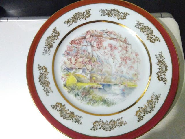 Plato decoración porcelana de Limoges