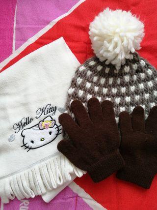 Gorro bufanda guantes niña 52