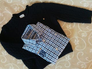 conjunto de jersey y camisa de Foque y Mayoral