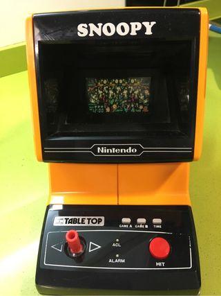 Tabletop snoopy Nintendo game watch,Samsung,Apple Pc,ps,Bandai,gakken,Pc,sega,casio,