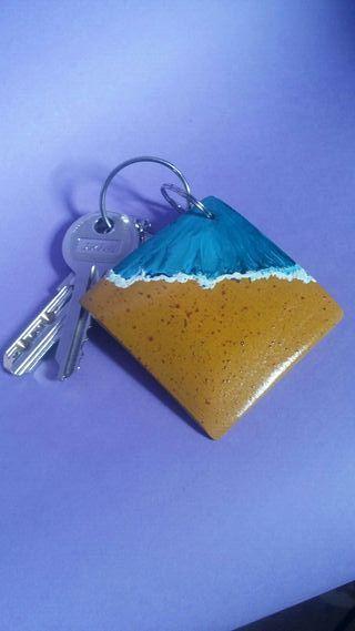 regalo, porta llaves, colgante, pendiente