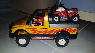 coche todoterreno playmobil con quad
