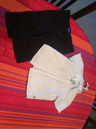 Pantalon y camisa marca okaïdi