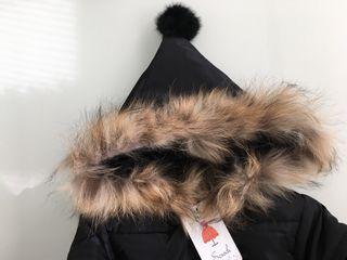 Abrigo con capucha pelo nuevo talla 5 años