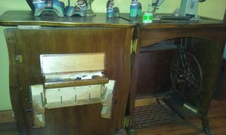 mueble com maquina de coser