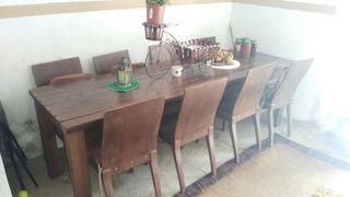 Mesa Rústica (para meson) y sillas