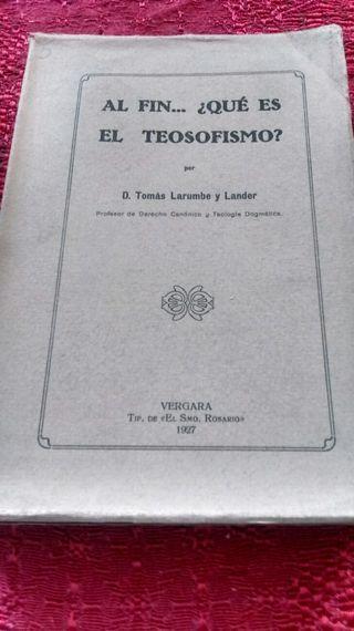 Al fin ...que es el teosofismo?