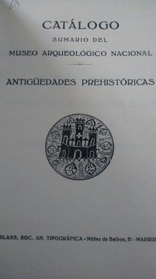 Catalogo de antiguedades prehistoricas