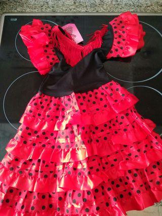 vestido de sevillana Niña