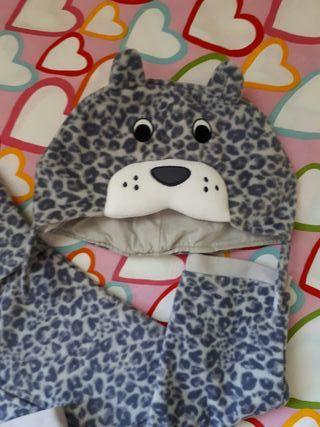 Pijamas disfraz flor y leopardo
