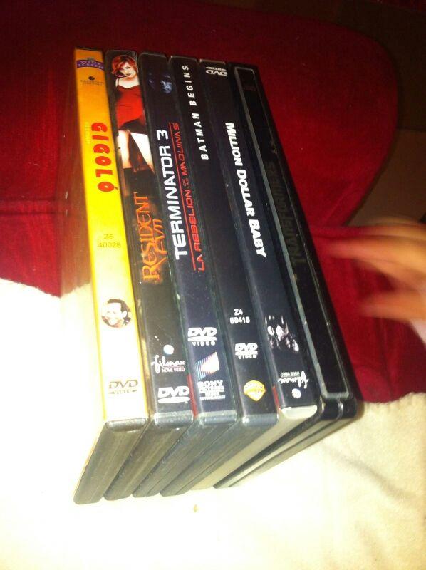 peliculas dvd 3€ cada unidad y todas 10€