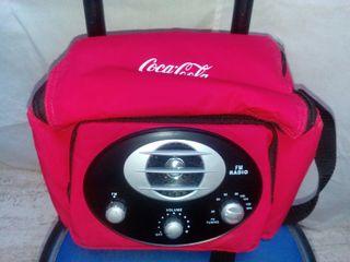 Nevera radio playa Coca Cola