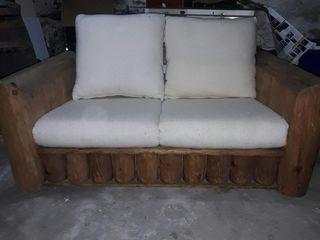 sofa rustico madera