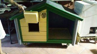 caseta para perros d 1.50 x 80 ideal para jardin