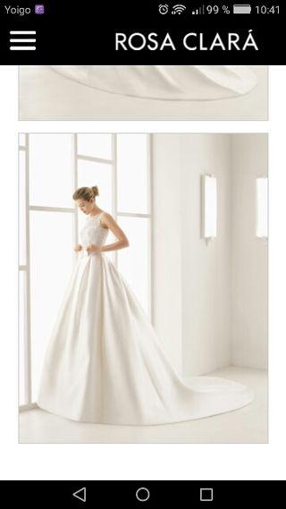 Vestido novia Rosa Clara Optimo