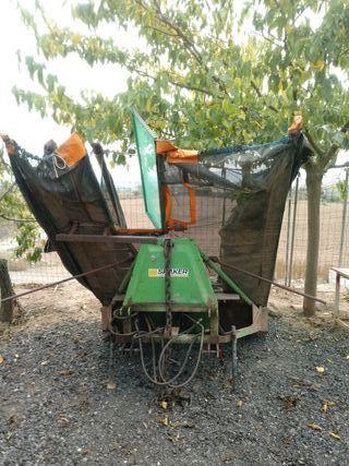 máquina recolectora almendras paraguas recolector