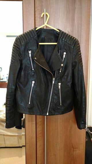 Leather vintage biker jacket