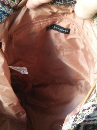 Bolso mochila tela y pu
