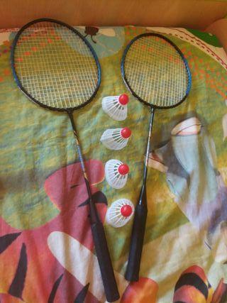 raquetas de badminton
