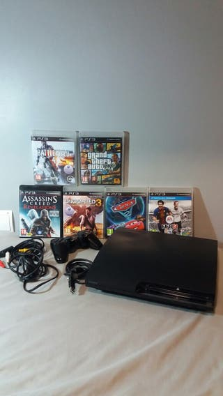 PS3 360GB +juegos + dos mandos.