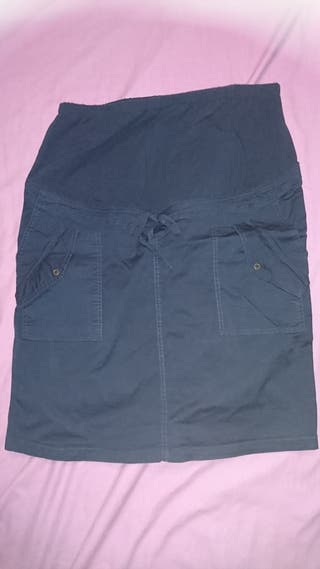 Falda premamá azul talla 46