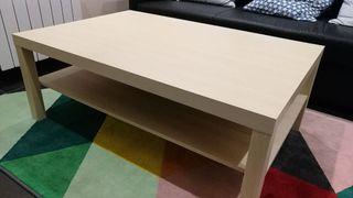 Mesa Ikea Lack efecto abedul