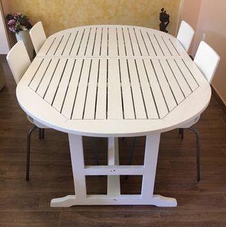 Mesa comedor y sillas de segunda mano por 120 en madrid en wallapop - Sillas comedor madrid ...