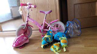 bicicleta y patines