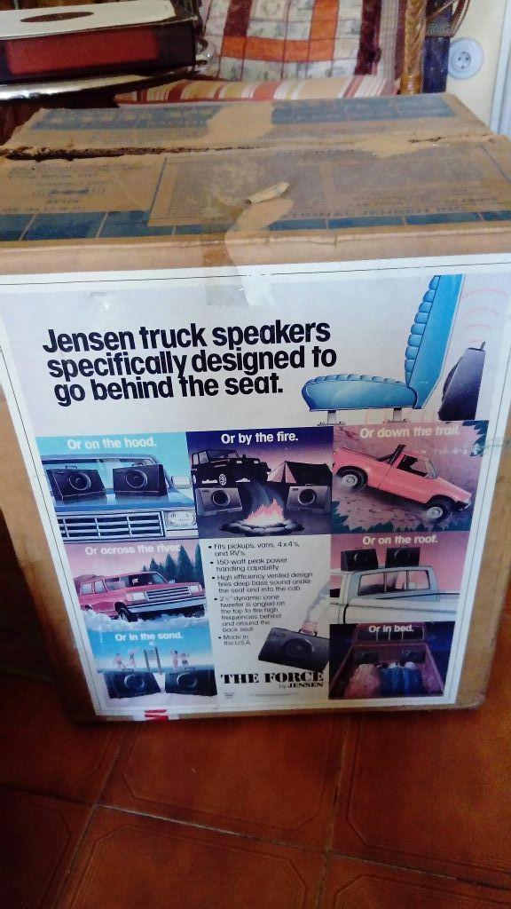 ALTAVOCES Jensen The Force JTE802 con caja origina