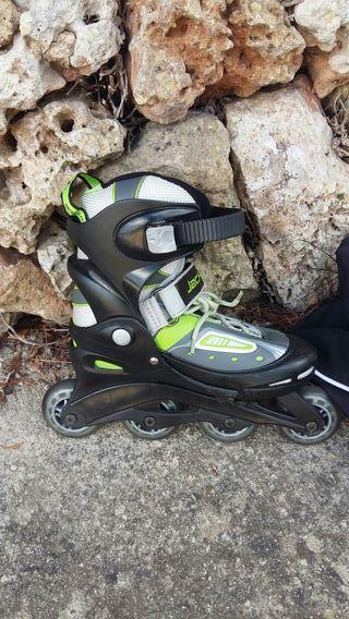 patines niño-a talla 34 á 37.con bolsa de transpor