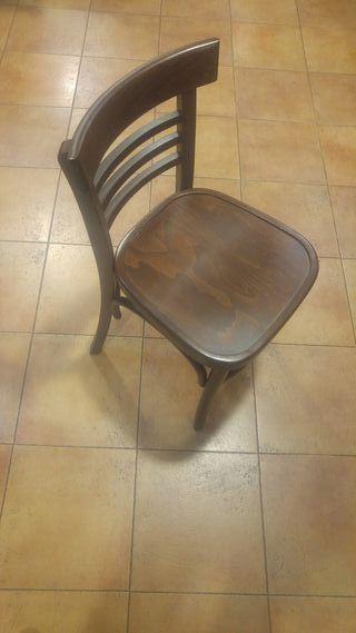 """Lote sillas modelo """"epoca"""" nogal"""