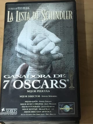 "VHS ""La lista de Schindler"""