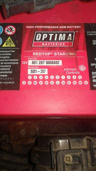 bateria optima agm 70ah